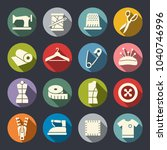 sewing vector icons | Shutterstock .eps vector #1040746996