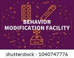 conceptual business... | Shutterstock . vector #1040747776