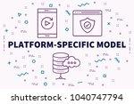 conceptual business...   Shutterstock . vector #1040747794