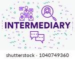 conceptual business... | Shutterstock . vector #1040749360