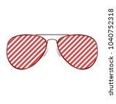 striped aviator glasses  | Shutterstock .eps vector #1040752318