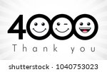 thank you 4000 followers... | Shutterstock .eps vector #1040753023