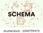 conceptual business... | Shutterstock . vector #1040759473