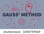conceptual business... | Shutterstock . vector #1040759569