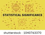 conceptual business... | Shutterstock . vector #1040763370