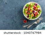 fresh vegetable salad of... | Shutterstock . vector #1040767984