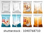 polypropylene plastic packaging ... | Shutterstock .eps vector #1040768710