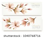 nature spring banners with... | Shutterstock .eps vector #1040768716
