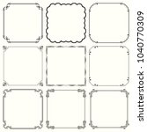 decorative frames  set 59  | Shutterstock .eps vector #1040770309
