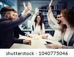 succesful enterprenours and... | Shutterstock . vector #1040775046