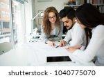 portrait of architects having... | Shutterstock . vector #1040775070
