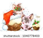 chinese year of the pig. new... | Shutterstock . vector #1040778403