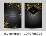 anniversary luxury backgrounds... | Shutterstock .eps vector #1040788723