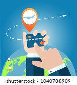 online app for tickets order.... | Shutterstock .eps vector #1040788909