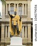 King Kamehameha Statue in historic downtown Honolulu.
