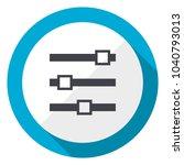 slider blue flat design web icon