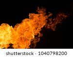 fire isolated on black | Shutterstock . vector #1040798200