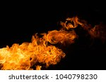 fire isolated on black | Shutterstock . vector #1040798230