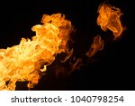 fire isolated on black | Shutterstock . vector #1040798254