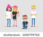 social intolerance. mockery....   Shutterstock .eps vector #1040799763