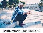 young handsome happy man in... | Shutterstock . vector #1040800573