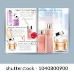 cosmetic magazine. vector... | Shutterstock .eps vector #1040800900