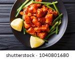 indian chicken with spicy sauce ... | Shutterstock . vector #1040801680