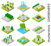 park vector landscape of... | Shutterstock .eps vector #1040804893