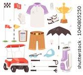 golf vector golfers sportswear... | Shutterstock .eps vector #1040805250