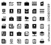 flat vector icon set   case... | Shutterstock .eps vector #1040805589
