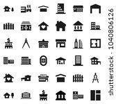 flat vector icon set  ... | Shutterstock .eps vector #1040806126