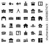 flat vector icon set  ... | Shutterstock .eps vector #1040807479
