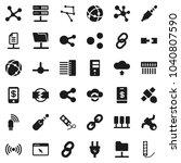 flat vector icon set   molecule ... | Shutterstock .eps vector #1040807590