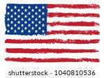 grunge usa flag.vector flag of... | Shutterstock .eps vector #1040810536