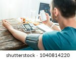 its for me. busy focused... | Shutterstock . vector #1040814220