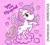you are magical. lovely cartoon ... | Shutterstock .eps vector #1040815216