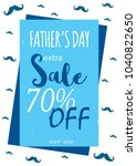 happy father's day sale. vector ... | Shutterstock .eps vector #1040822650