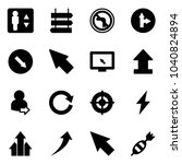 solid vector icon set  ... | Shutterstock .eps vector #1040824894