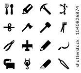 solid vector icon set   spoon... | Shutterstock .eps vector #1040826874