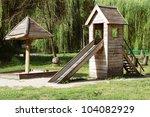 retro wooden playground | Shutterstock . vector #104082929