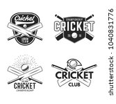 cricket logo set  sports... | Shutterstock .eps vector #1040831776