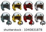 cartoon colorful aviator pilot... | Shutterstock .eps vector #1040831878