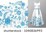 seamless pattern of hand draw...   Shutterstock . vector #1040836993