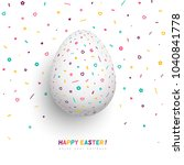 happy easter greeting card ... | Shutterstock .eps vector #1040841778