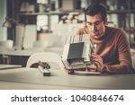 man working in design and...   Shutterstock . vector #1040846674