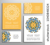 greeting and business cards set.... | Shutterstock .eps vector #1040848324