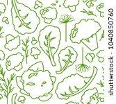 green vegetable seamless... | Shutterstock .eps vector #1040850760