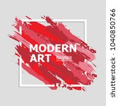 modern art abstract banner.... | Shutterstock .eps vector #1040850766