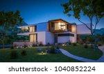 3d rendering of modern cozy... | Shutterstock . vector #1040852224