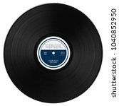 gramophone vinyl lp record with ... | Shutterstock . vector #1040852950